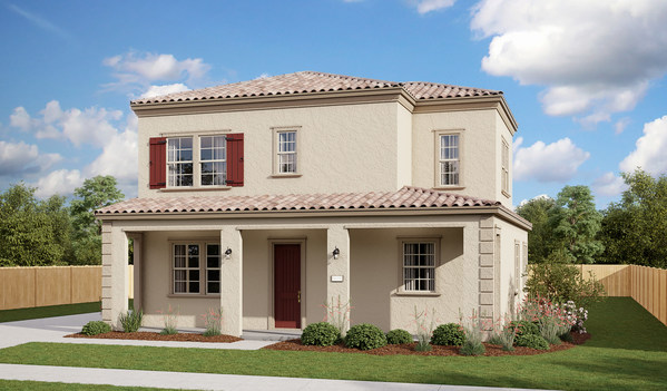 The Nottingham is one of four Richmond American floor plans available at Gardenside at The Preserve in Chino, CA.