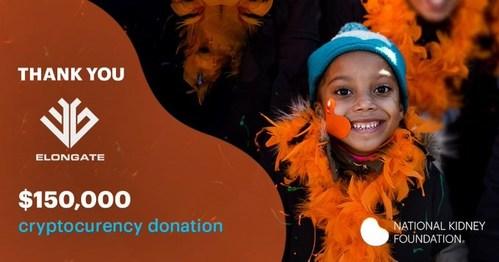 ELONGATE dona USD& 150.000 a la National Kidney Foundation de los EE.& UU.