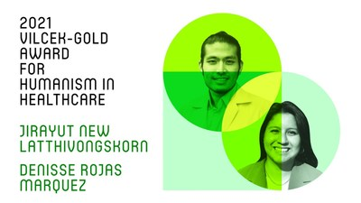 Jirayut New Latthivongskorn and Denisse Rojas Marquez are the joint recipients of the 2021 Vilcek-Gold Award for Humanism in Healthcare.