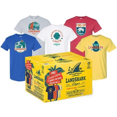 LandShark Lager T-Shirt in Case 2021 (CNW Group/Waterloo Brewing Ltd.)