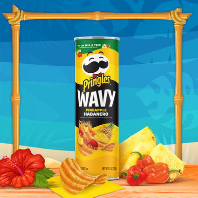NEW PRINGLES® WAVY PINEAPPLE HABANERO TAKES YOUR TASTE BUDS ON A TROPICAL GETAWAY