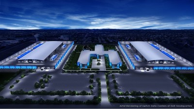 Artist rendering of Switch Data Centers at Dell Headquarters