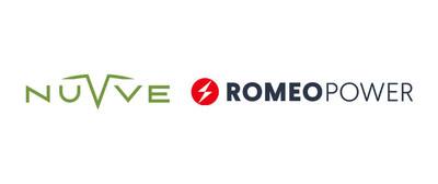 Nuvve Holding Corp. and Romeo Power, Inc. logos