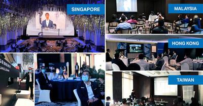 Geberit a diffusé des présentations sur le design, la fonctionnalité et la technologie à partir d'un stand de salon réel.  Outre l'événement virtuel, des événements en direct ont été organisés à Singapour, en Malaisie, à Hong Kong et à Taïwan.