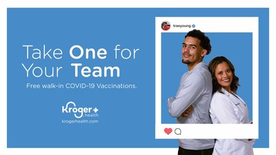Kroger Health Partners with Trae Young and Turner Sports to Help Drive COVID-19 Vaccinations in Atlanta.