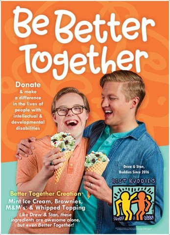 Better Together Creation™ details featuring Drew and Stan, Buddies since 2016