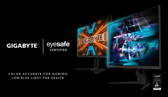 GIGABYTE's Eyesafe® Certified gaming monitors are optimized for ultimate performance and now include always-on low blue light technology to help promote eye comfort.