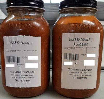 Sauce Bolognaise (Groupe CNW/Ministère de l'Agriculture, des Pêcheries et de l'Alimentation)