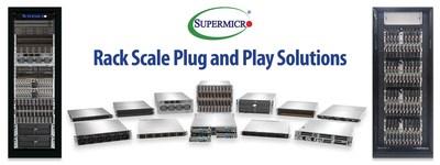 Portfólio Rack Scale Plug and Play para nuvem, IA, 5G/Edge e computação de alto desempenho (HPC) (PRNewsfoto/Super Micro Computer, Inc.)