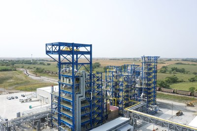 Olive Creek 1 in Hallam, Nebraska, is Monolith Materials' first commercial-scale emissions-free production facility designed to produce approximately 14,000 metric tons of carbon black annually along with clean hydrogen. SK Inc. led a consortium of investors in the latest round of funding for Monolith.
