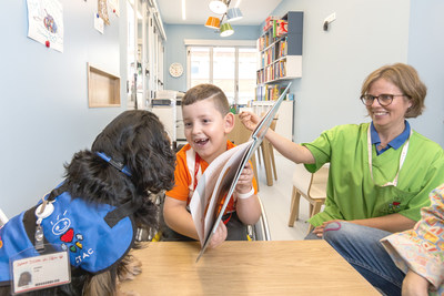 Dogs supporting hospitalized children at Sant Joan de Déu
