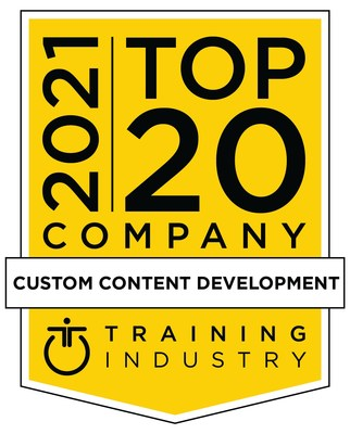 PDG named a Training Industry's 2021 Top Custom Content Development Companies For The Third Time