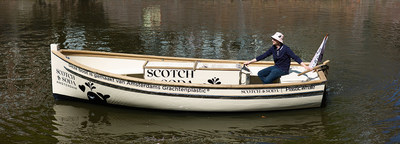 SCOTCH & SODA AND PLASTIC WHALE LAUNCH PLASTIC FISHING BOAT MADE FROM RECYCLED BOTTLES FROM THE AMSTERDAM CANALS.