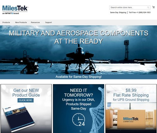 MilesTek Introduces New and Improved eCommerce Website Enhancing Customer Experience