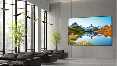 """Optoma unveils its new, fully optimized 130"""" FHDS130 SOLO LED display."""