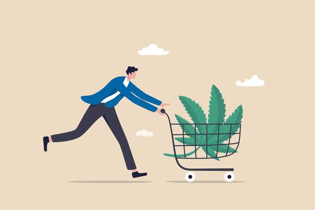 Man buying cannabis