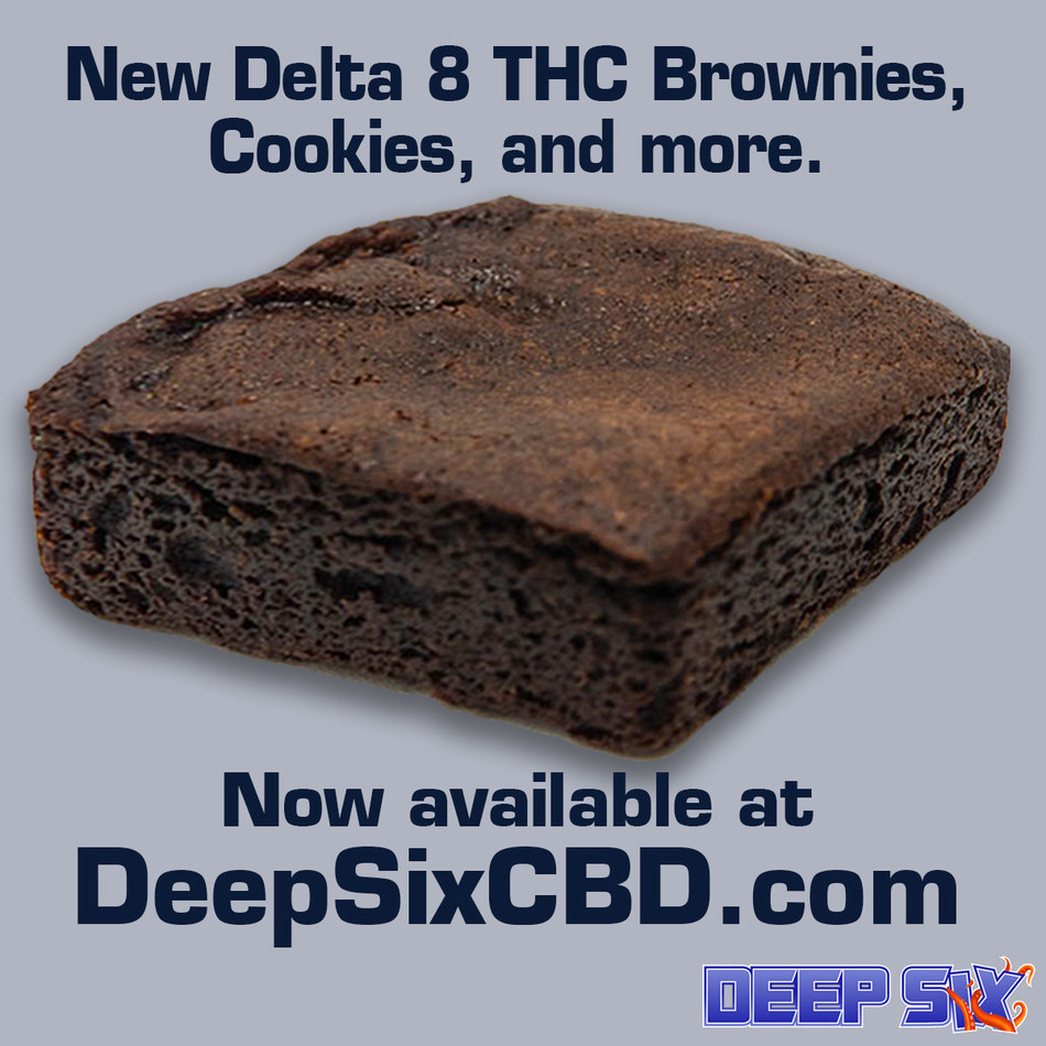 New Delta 8 THC Baked Goods, available through DeepSixCBD.com for nationwide delivery.