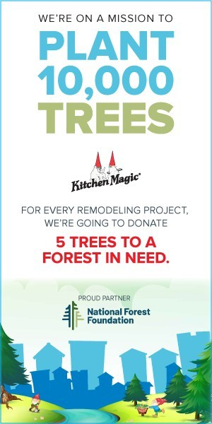 Kitchen Magic is on a mission to plant 10,000 trees to aid deforestation. Sustainability has always been a pillar of our mission and our National Forest Foundation partnership aligns perfectly with our commitment to protecting the environment.