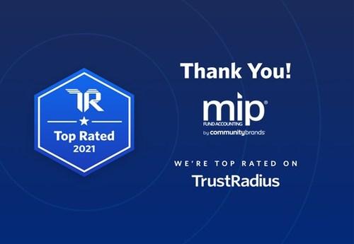 TrustRadius Award picture (PRNewsfoto/MIP)