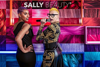 """Joey Jay expresses himself with a vibrant performance of Heather Chelan's new song """"Colored Hair"""" at Sally Beauty's """"YOU by Sally"""" campaign launch event in NYC on June 2, 2021 at Mr. Purple."""