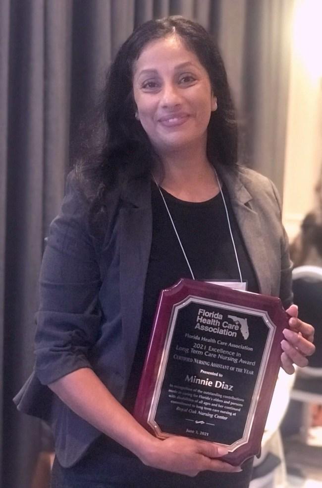 Minnie Diaz, CNA of the Year Royal Oak Nursing Center