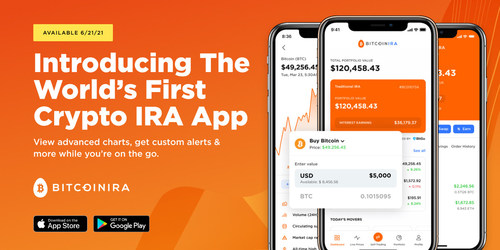 Introducing the world's first Crypto IRA app.