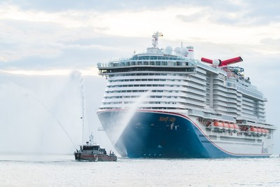 MARDI GRAS, CARNIVAL CRUISE LINE'S NEWEST AND MOST INNOVATIVE SHIP, MAKES U.S. DEBUT, DOCKING IN PORT CANAVERAL FOR THE FIRST TIME