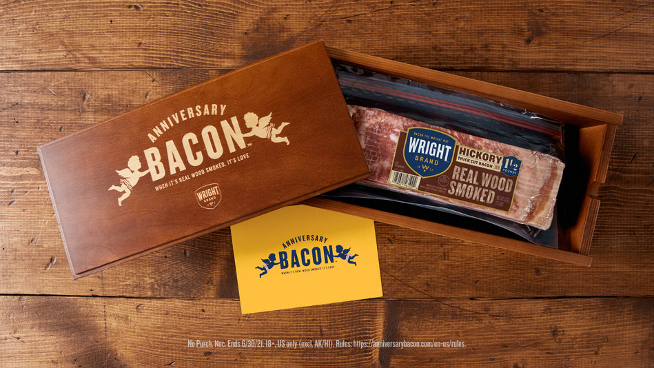 Couples have a chance to win the gift of Wright® Brand Bacon by sharing a photo from their 2016 ceremony.
