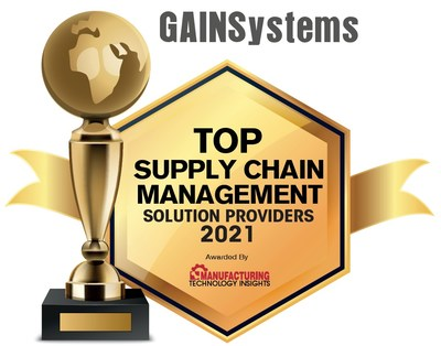Award for Top Supply Chain Management Solution Providers 2021