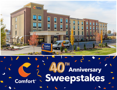 Comfort Hotels Celebrates 40 Years Of Guest Loyalty With Chance For 40 Customers To Win 40,000 Choice Privileges Points