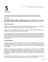 ShaMaran Announces 45MMBbls Milestone Achieved and Other News (CNW Group/ShaMaran Petroleum Corp.)