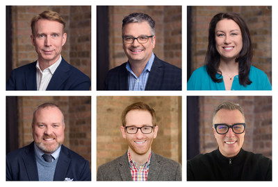 From left to right: David Ormesher, CEO; Jon Sawyer, President and Chief Operating Officer; Allison Davis, Chief Client Officer; Ryan Mason, Chief Strategy Officer; Dave Reidy, Chief Creative Officer and Steve Tulk, Chief Technology Officer