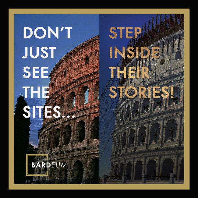 Step back in time at the Roman Colosseum with Blood & Sand on the BARDEUM Mobile App