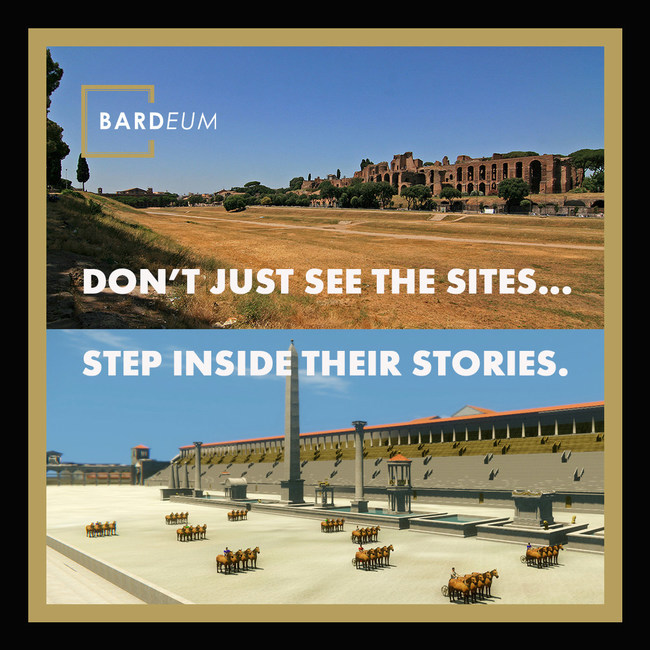 Step back in time to the Circus Maximus with The Charioteer on the Bardeum Mobile App