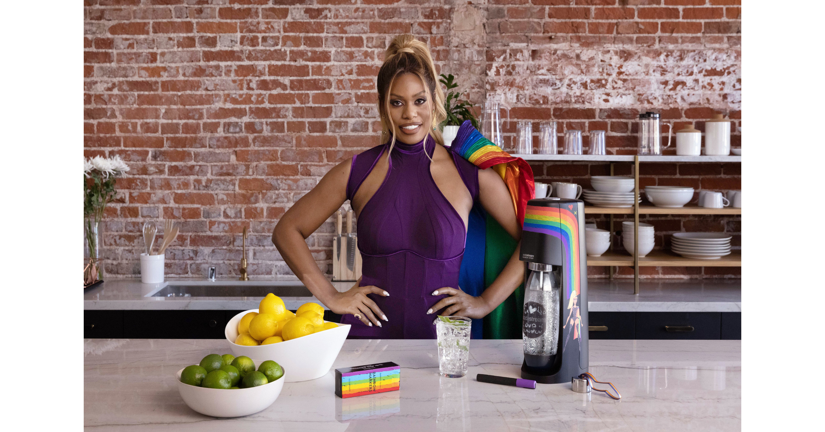 SodaStream and Star Laverne Cox Release New Pride Video Spotlighting Cox as Superhero for LGBTQI+ Rights - Canada NewsWire