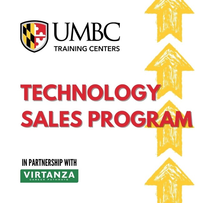 In-Demand Training for Tech Sales Employment a Priority for UMBC Training Centers and Virtanza (PRNewsfoto/UMBC Training Centers and Virtanza Career Pathways)