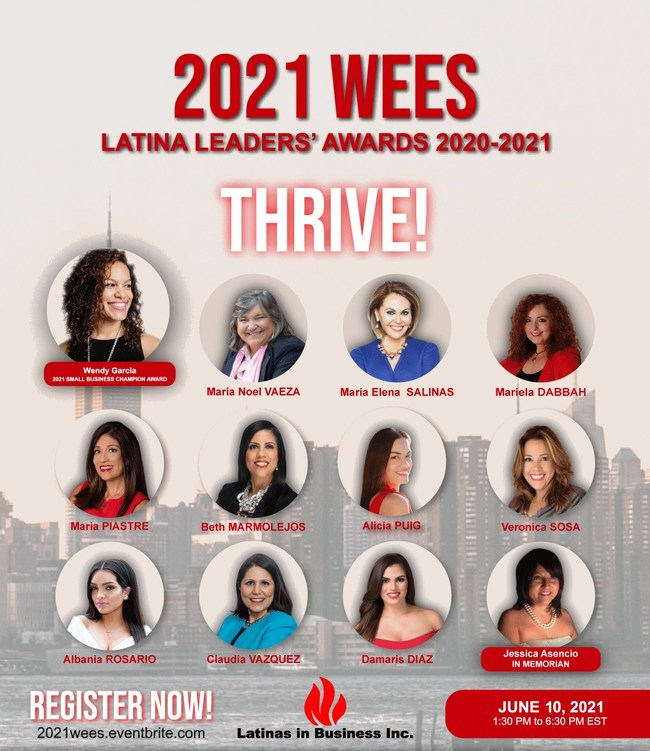 2021 Small Business Champion and Latina Leaders Awardees