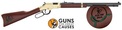 """Henry Repeating Arms is donating a limited-edition run of 50 custom """"Flex For Kalel"""" engraved rifles to raise the funds needed for an experimental treatment of Kalel's disease."""
