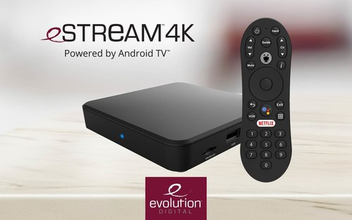 Evolution Digital eSTREAM 4K, powered by Android TV