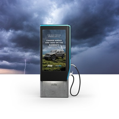 Jeep 4xe Stormy Weather Campaign on Volta Charging Stations