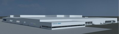 Rendered Image of New Tempur Sealy Foam-Pouring Plant in Indiana.