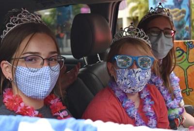 Pediatric patients and families who attended St. Joseph's Children's Hospital's Car Pool Prom Saturday, June 5, 2021, were treated to a unique drive-thru experience that included beach-themed activity stations, a splash zone, a dance station, a prom swag bag, and loads of fun.