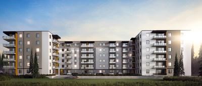 Le Cardinal Nord à Québec : nouveau projet résidentiel pour EDIFIA Groupe Immobilier et le Fonds immobilier de solidarité FTQ (Groupe CNW/Fonds de solidarité FTQ)