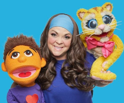 Ne educational movement channel for kids ages 2 to 7, MOSI + MOO, stars loveable boy puppet and his singing cat, plus their dance teacher friend, Belle (CNW Group/The Idea Kiosk)