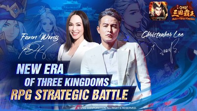 Christopher Lee and Fann Wong become the ambassadors of OMG! Gods of Three Kingdoms in Singapore, Malaysia, and Vietnam.
