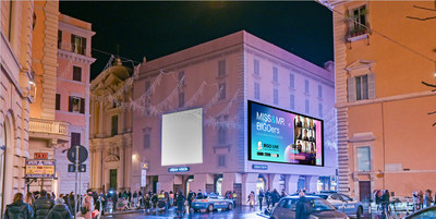 Miss & Mr BIGOers, Ambassadors of Bigo Live Italy, Gleam on Rome's Famed Via del Corso Billboard