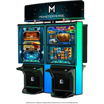 MonsterVerse is the newest series on Everi's Empire DCX premium cabinet, featuring Kong and Godzilla in earth shattering 4K game play, now available at San Manuel Casino.
