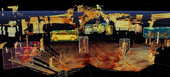 InnovizOne's dense point cloud enables senseEGDE to provide accurate and reliable object metadata information