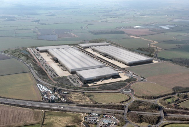 An artist's impression of the new Jaguar Land Rover Global Parts Logistics Centre at Appleby Magna, Leicestershire