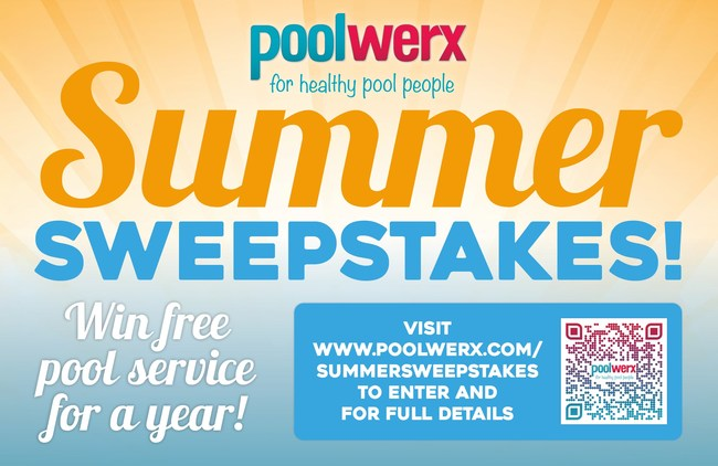 Win free pool service from Poolwerx